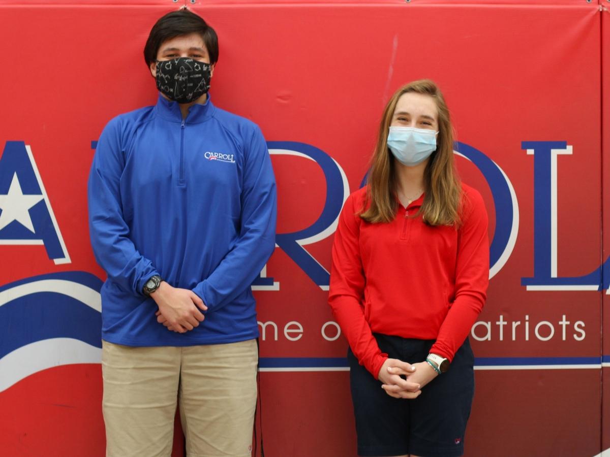 2021 National Merit Scholarship Finalists Cameron Neidhard and Josie Rose