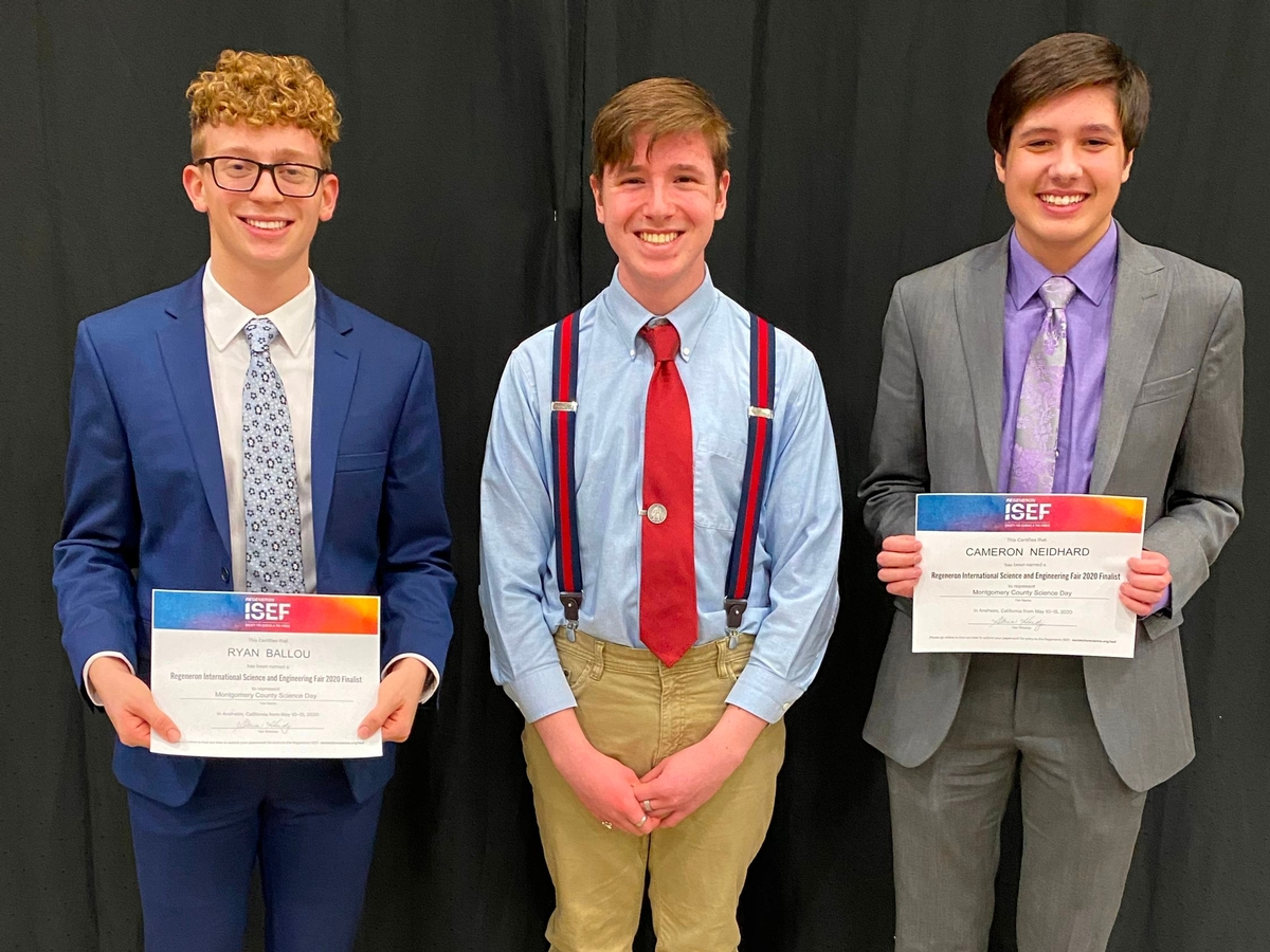 2020 International Science and Engineering Fair qualifiers from Carroll High School