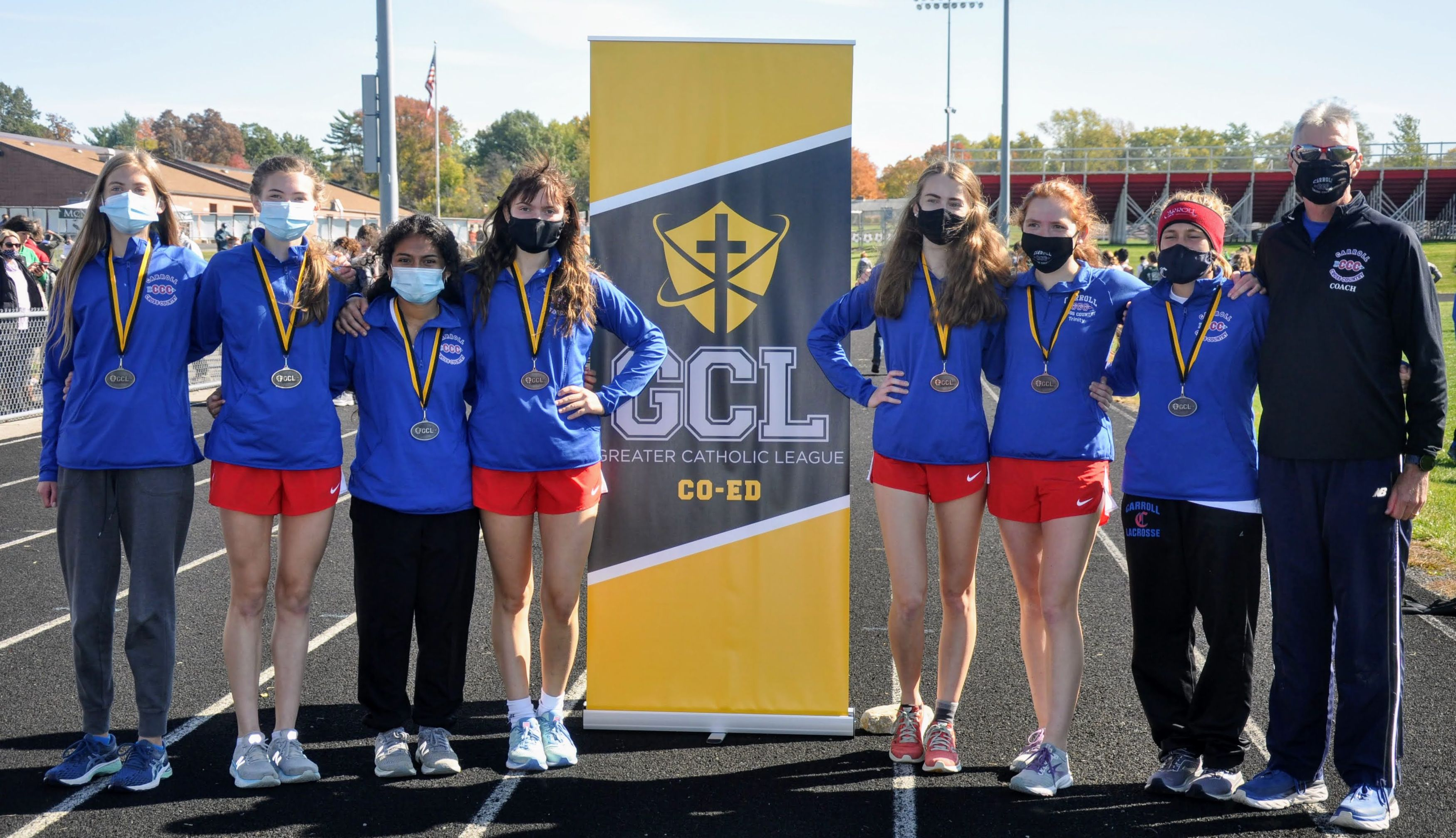 Carroll High School Girls' Cross Country 2020 GCL Champions