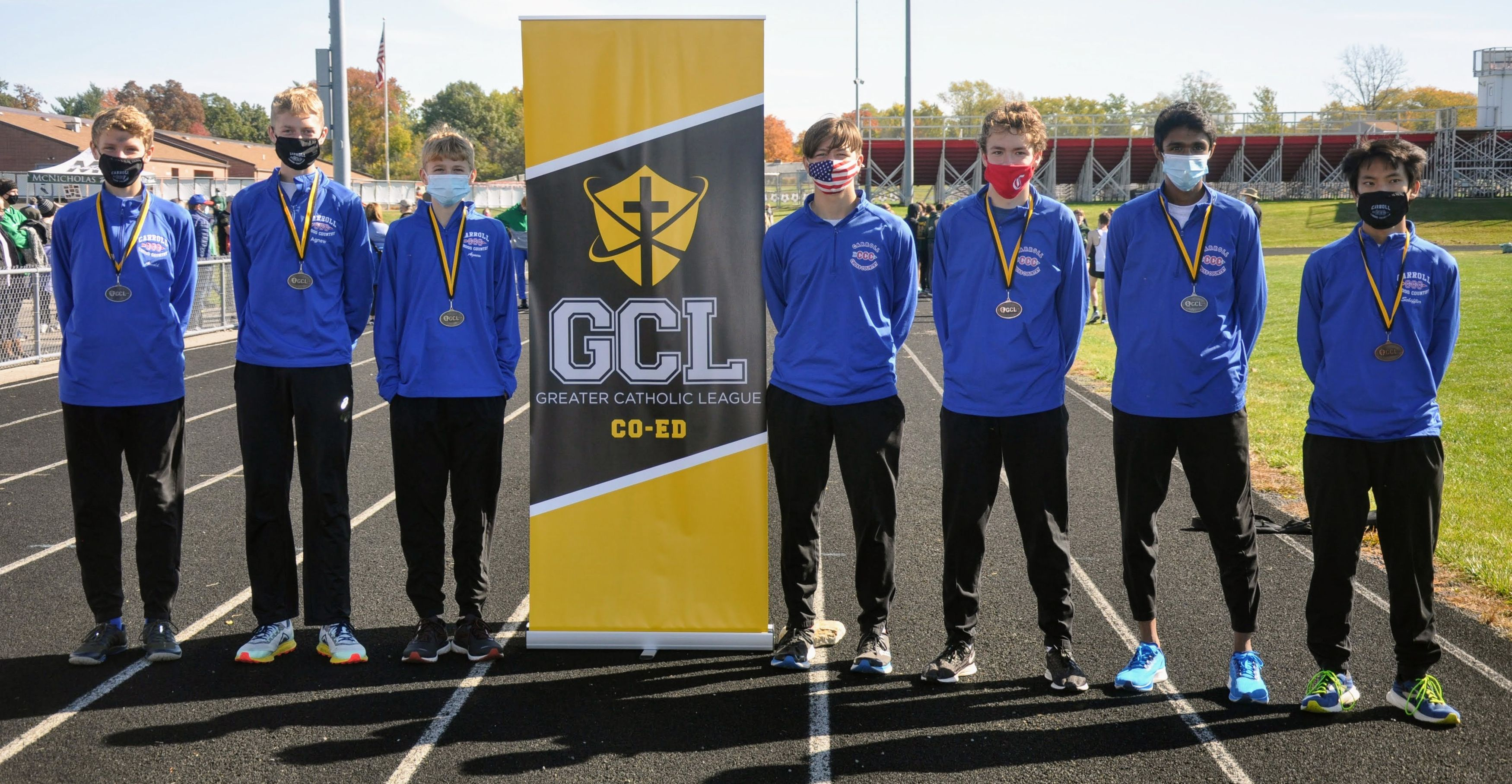 Carroll High School Boys' Cross Country 2020 GCL Champions