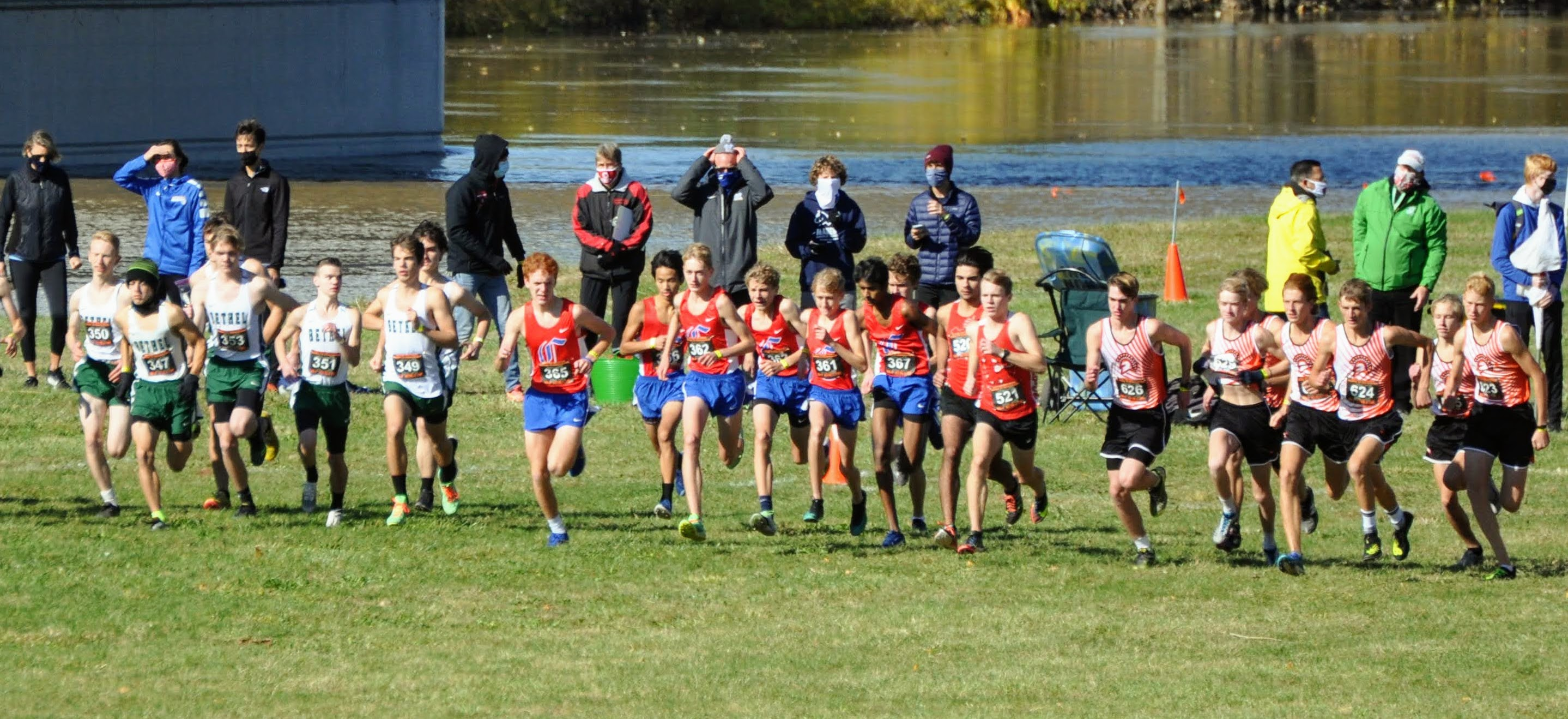 Carroll High School Boys' Cross Country competes at the Ohio High School Athletic Association Regional Championships