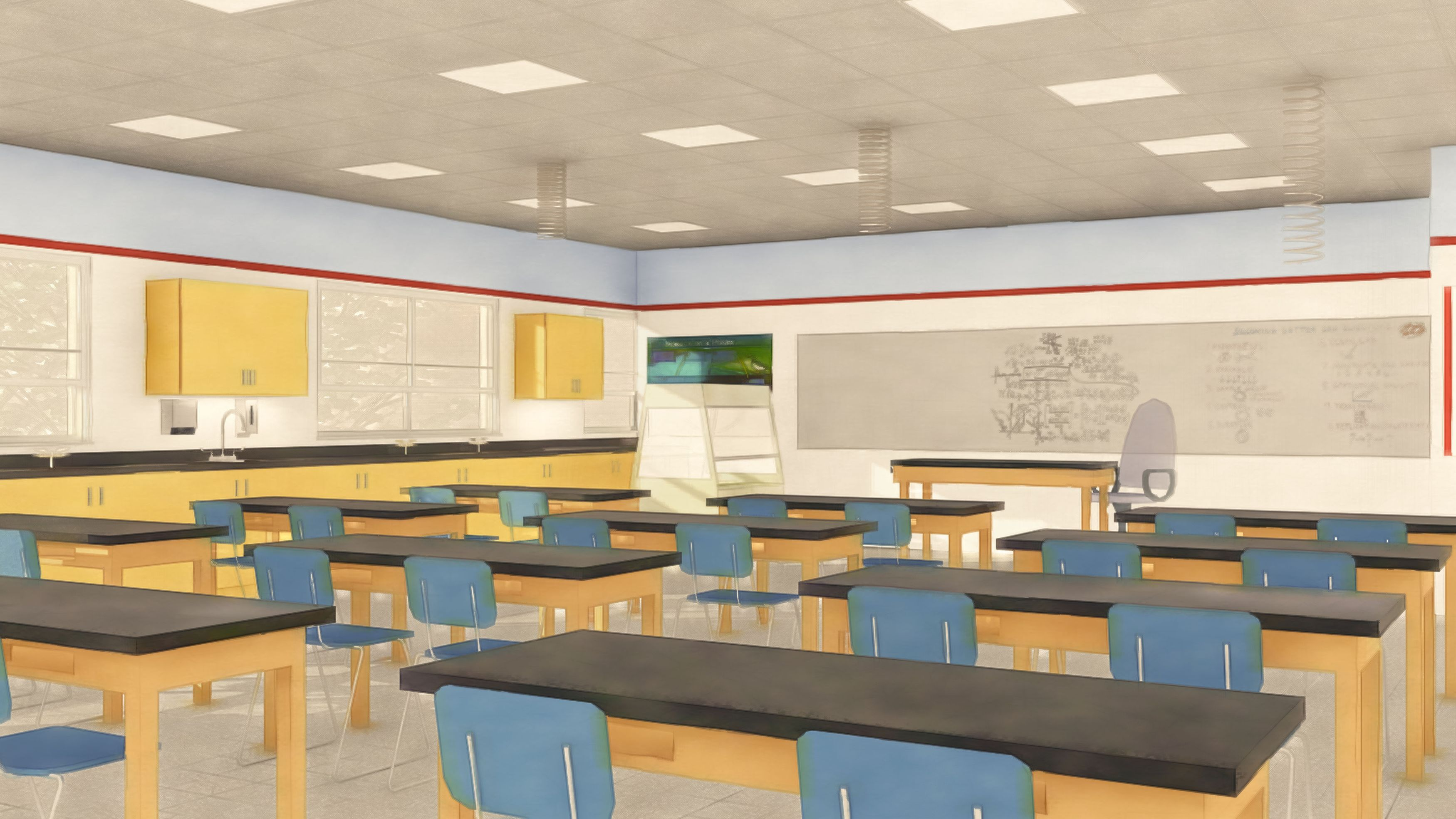 Science and STEM Lab Artist Rendering