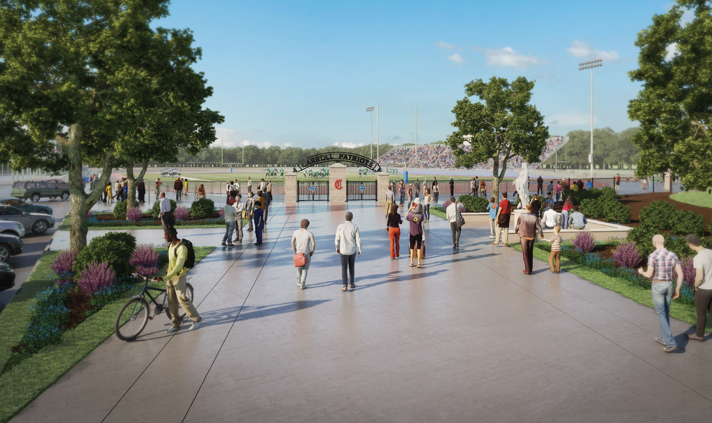 Stadium Entry Plaza Artist's Rendering