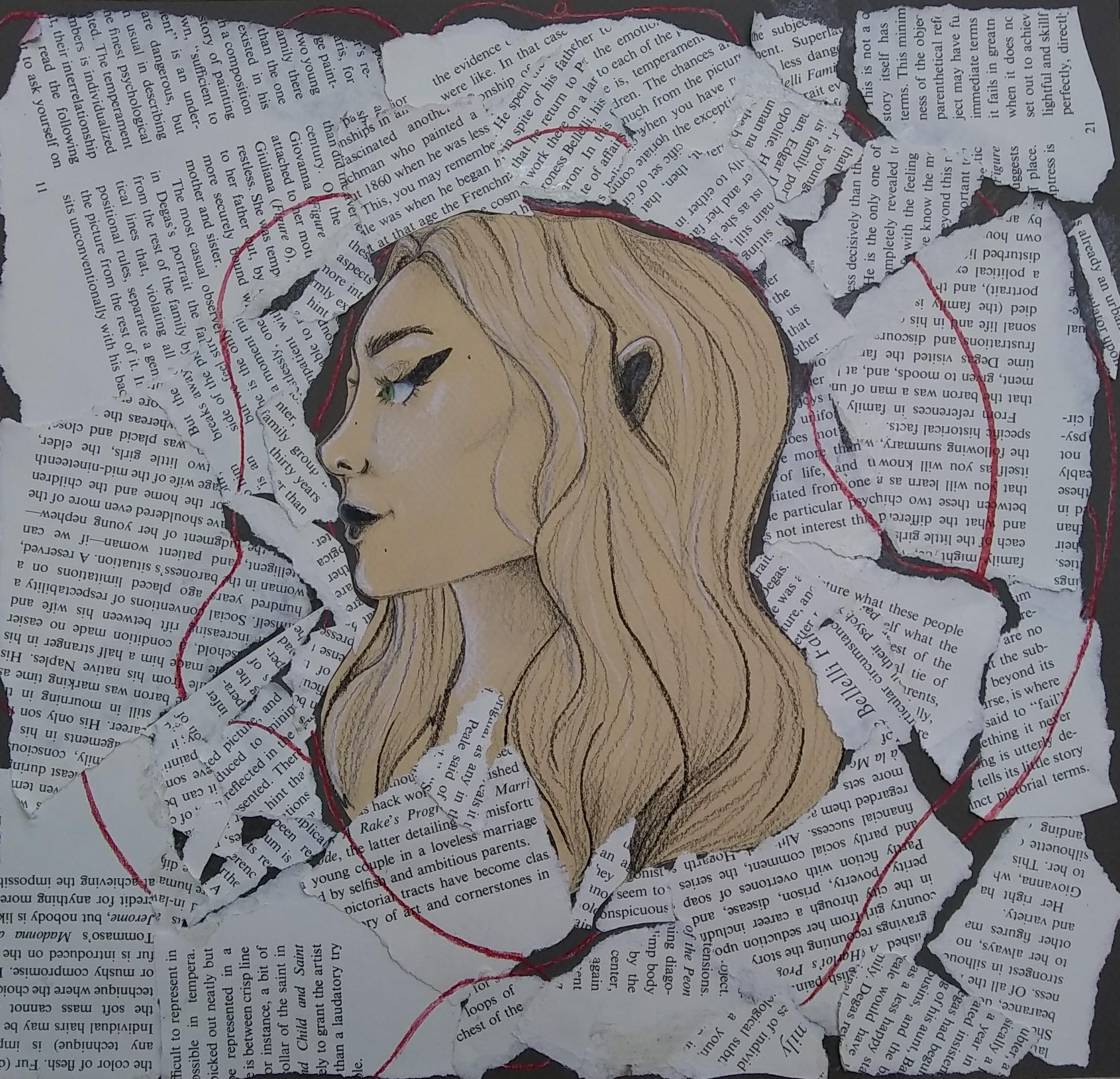 Regan Holkema: Mixed Media (Collage, Colored Pencil, Ink) Composition by Regan Holkema