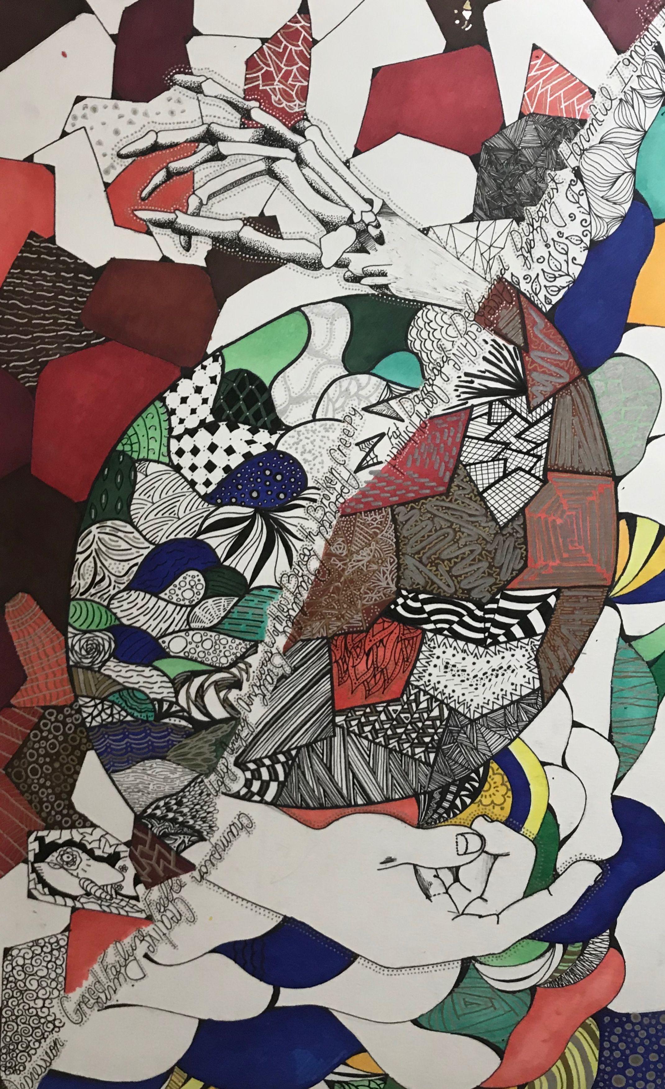 Ink drawing by Zhenya Huber